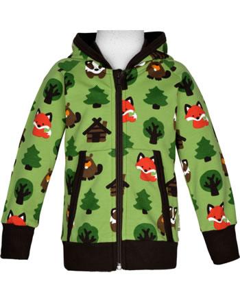Maxomorra Sweat-Jacke Hoodie GREEN FOREST grün C3408-M548 GOTS