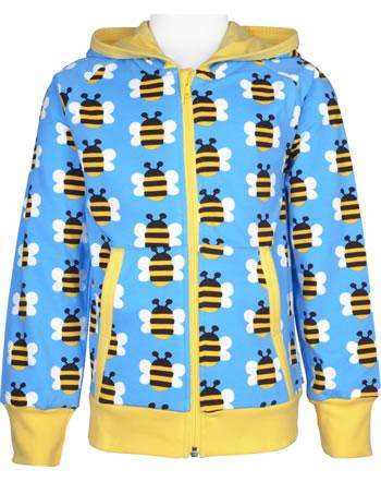 Maxomorra Sweat-Jacke Hoodie HUMBLE BUMBLEBEE blau GOTS M472-C3343
