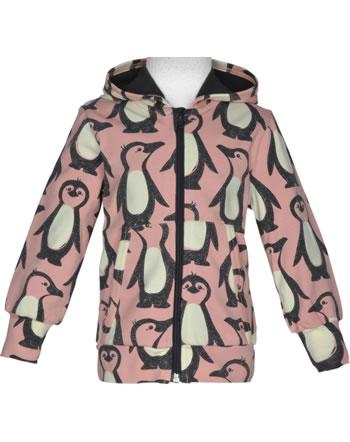 Maxomorra Sweat-Jacke Hoodie PINGUIN FAMILIE rosa M472-D3298 GOTS