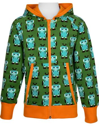 Maxomorra Sweat-Jacke Hoodie ROBOT grün C3422-M548 GOTS