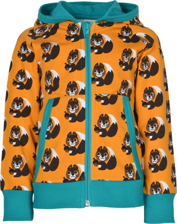 Maxomorra Sweat-Jacke Hoodie SQUIRREL orange XA24-28A GOTS