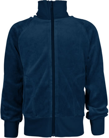 Maxomorra Sweat-Jacke mit Kragen Velour UNI midnight M445-D3308 GOTS