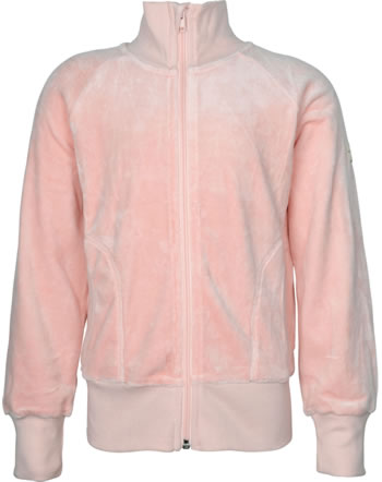 Maxomorra Sweat-Jacke mit Kragen Velour UNI pale blush M445-D3304 GOTS