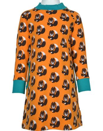 Maxomorra Sweat-Kleid Langarm SQUIRREL orange XA24-32A GOTS