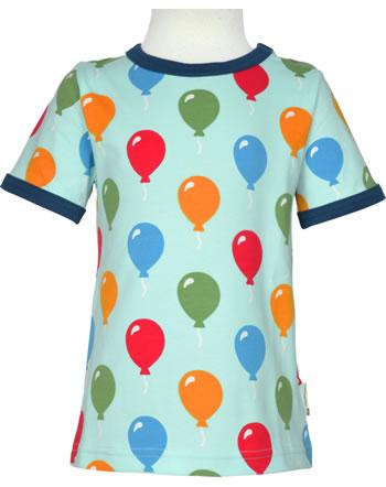 Maxomorra T-Shirt short sleeve BALLOON blue C3483-M468 GOTS