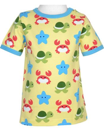 Maxomorra T-Shirt Kurzarm BEACH BUDDIES gelb GOTS M468-C3347