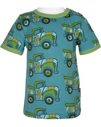 Maxomorra T-Shirt Kurzarm BUNTER TRUCK blau/grün GOTS M468-C3365