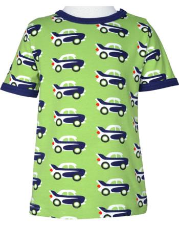 Maxomorra T-Shirt Kurzarm CAR grün C3474-M468 GOTS