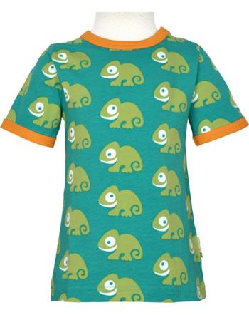 Maxomorra T-Shirt short sleeve CHAMELEON green C3481-M468 GOTS
