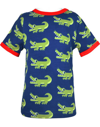 Maxomorra T-Shirt Kurzarm CROCODILE blau GOTS M469-C3470