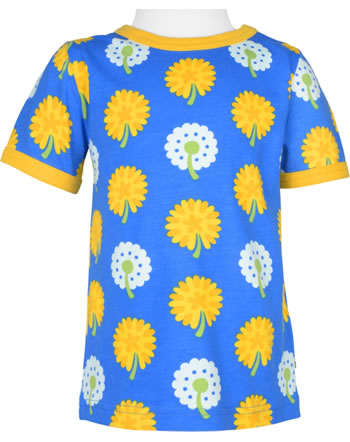 Maxomorra T-Shirt short sleeve DANDELION blue/yellow C3477-M468 GOTS