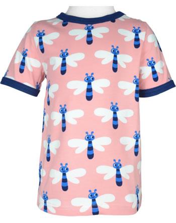 Maxomorra T-Shirt short sleeve DRAGONFLY pink C3472-M468 GOTS