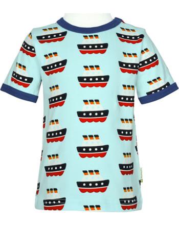 Maxomorra T-Shirt short sleeve FERRY blue C3486-M468 GOTS