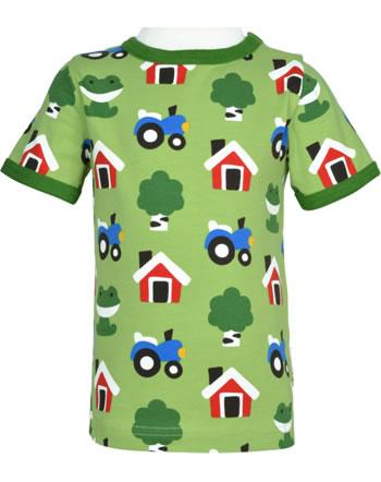 Maxomorra T-Shirt Kurzarm FOREST FARM grün GOTS M468-C3342
