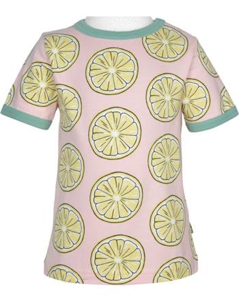 Maxomorra T-Shirt Kurzarm FRESH LEMON rosa GOTS M468-C3383