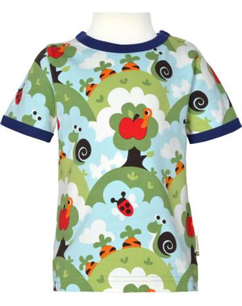Maxomorra T-Shirt short sleeve GARDEN blue C3485-M468 GOTS
