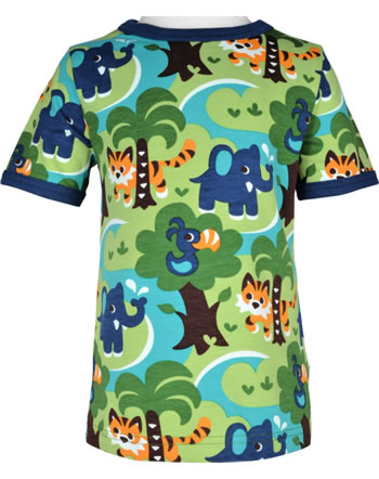 Maxomorra T-Shirt short sleeve JUNGLE green C3473-M468 GOTS