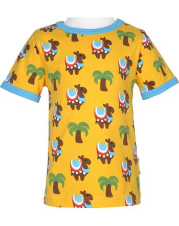 Maxomorra T-Shirt Kurzarm KAMEL KARAWANE gelb/blau GOTS M179-C3336