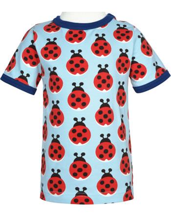 Maxomorra T-Shirt Kurzarm LAZY LADYBUG blau GOTS M468-C3344