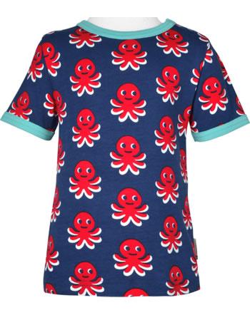 Maxomorra T-Shirt short sleeve OCTOPUS blue / red C3476-M468 GOTS