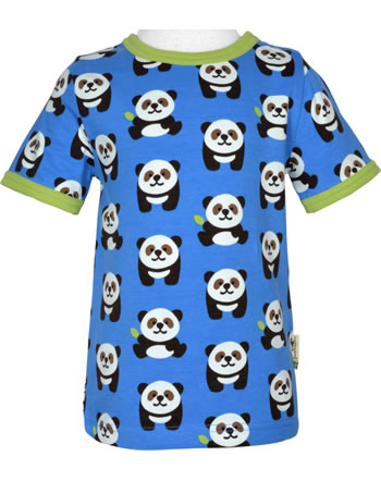Maxomorra T-Shirt Kurzarm PANDA blau/grün GOTS M179-C3335