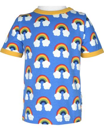 Maxomorra T-Shirt short sleeve RAINBOW blue GOTS C3470-M468