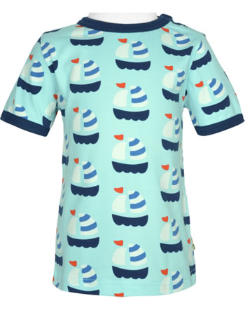 Maxomorra T-Shirt Kurzarm SAILBOAT blau GOTS M468-C3346