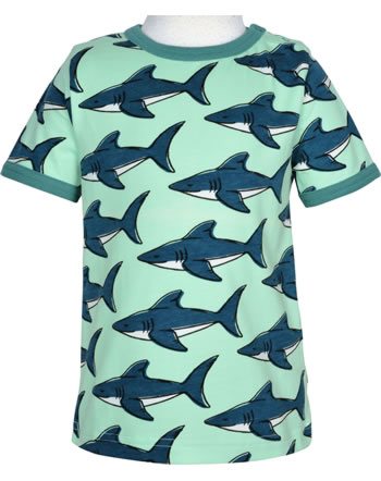 Maxomorra T-Shirt Kurzarm SHARK grün GOTS M468-C3381