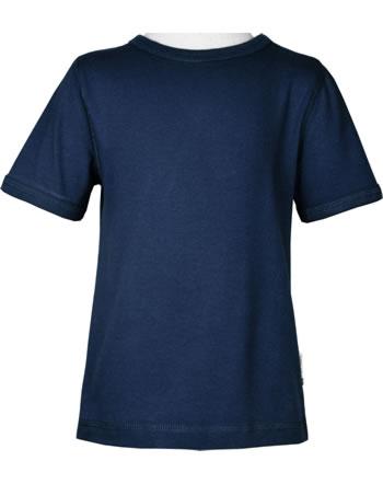 Maxomorra T-Shirt short sleeve SOLID NAVY blue C3494-M448 GOTS