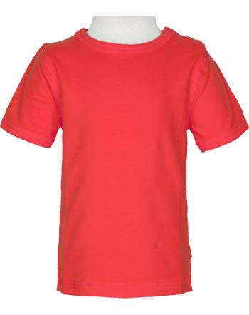 Maxomorra T-Shirt short sleeve SOLID RUBY C3517-M448 GOTS