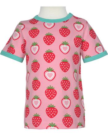 Maxomorra T-Shirt short sleeve STRAWBERRY pink C3484-M468 GOTS