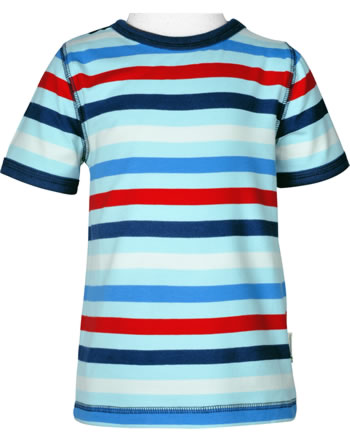 Maxomorra T-Shirt short sleeve STRIPE ICE C3492-M522 GOTS