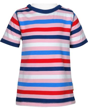 Maxomorra T-Shirt short sleeve STRIPE stripe blossom C3493-M522 GOTS