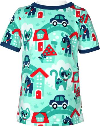 Maxomorra T-Shirt short sleeve TOWN turquoise C3479-M468 GOTS