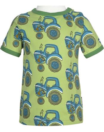Maxomorra T-Shirt Kurzarm TRAKTOR grün GOTS M468-C3376