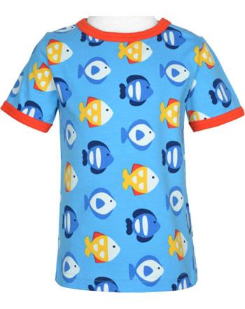 Maxomorra T-Shirt Kurzarm TROPICAL AQUARIUM blau GOTS M468-C3348