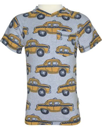 Maxomorra T-Shirt Kurzarm V-Ausschnitt TAXI grau M422-D3226 GOTS