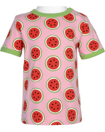 Maxomorra T-Shirt Kurzarm WATERMELON rosa GOTS M468-C3349