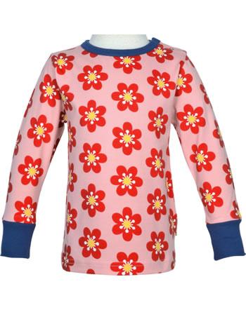 Maxomorra T-Shirt Langarm ANEMONE rosa/blau C3430-M467 GOTS
