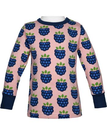 Maxomorra T-Shirt Langarm BLACKBERRY rosa C3410-M467 GOTS