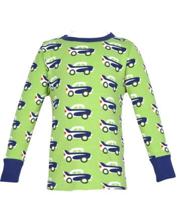 Maxomorra T-Shirt long sleeve CAR green C3474-M467 GOTS