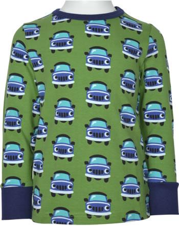 Maxomorra T-Shirt Langarm CAR grün XA12-02A GOTS