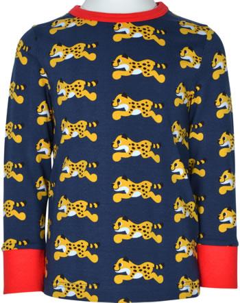 Maxomorra T-Shirt Langarm CHEETAH blau XA23-02A GOTS