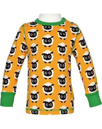 Maxomorra T-Shirt Langarm CLASSIC SHEEP orange/grün C3501-M592 GOTS