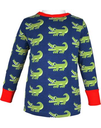 Maxomorra T-Shirt long sleeve CROCODILE blue C3469-M467 GOTS