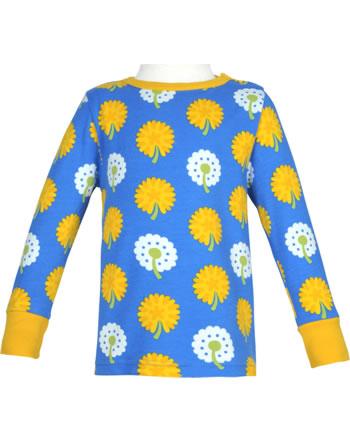 Maxomorra T-Shirt long sleeve DANDELION blue/yellow C3477-M467 GOTS