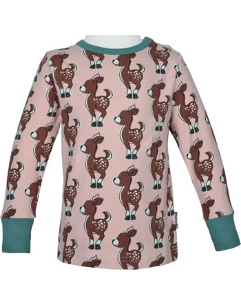 Maxomorra T-Shirt Langarm FAWN rosa/grün C3436-M467 GOTS