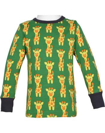 Maxomorra T-Shirt long sleeve GIRAFFE green C3424-M467 GOTS