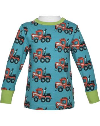 Maxomorra T-Shirt Langarm HIGHWAY TRUCK blau C3415-M467 GOTS