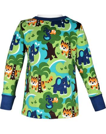Maxomorra T-Shirt long sleeve JUNGLE green C3473-M467 GOTS